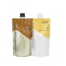 Shiseido Crystallizing Qurl EX1 Hair Wave Perm Chemicals Neutralizing Lotion 400ML